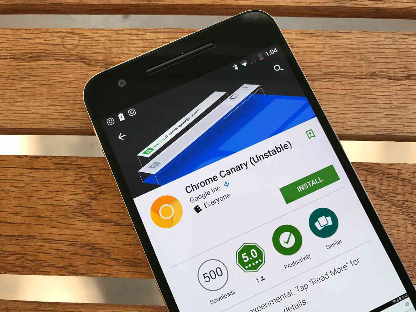 Chrome Canary Android app