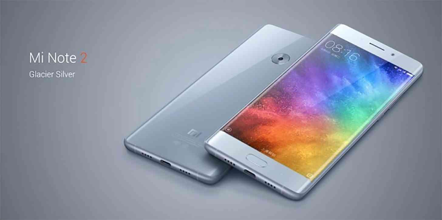 Xiaomi Mi Note 2 official Glacial Silver