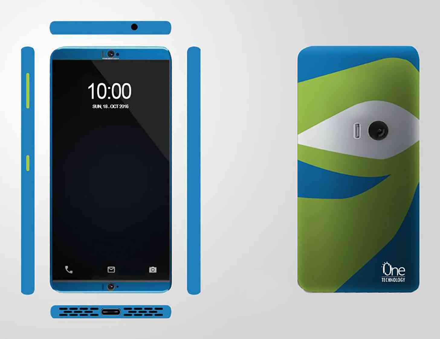 ZTE Project CSX Eye-Tracking, Self-Adhesive Phone design