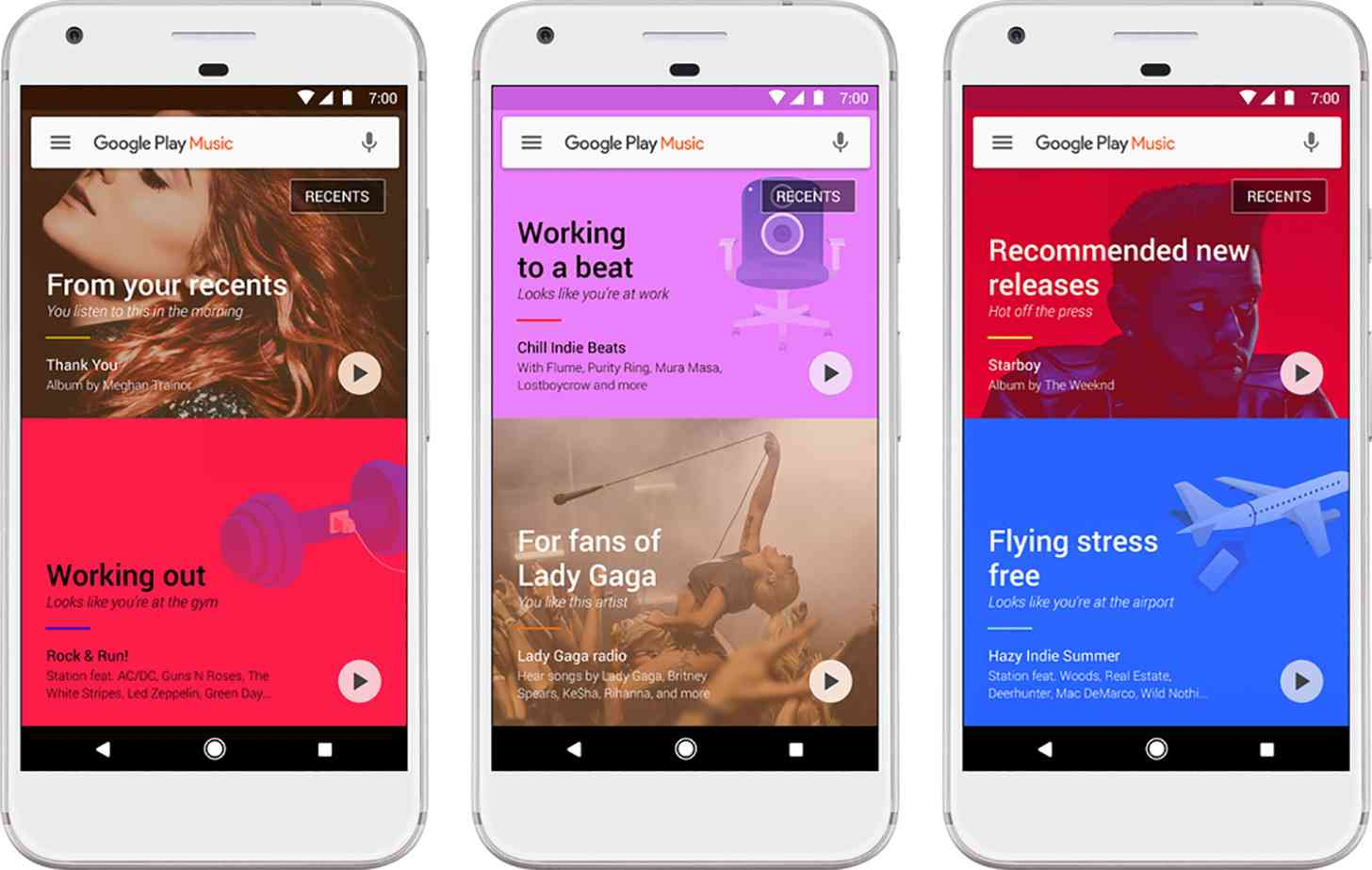 Google Play Music update new home screen