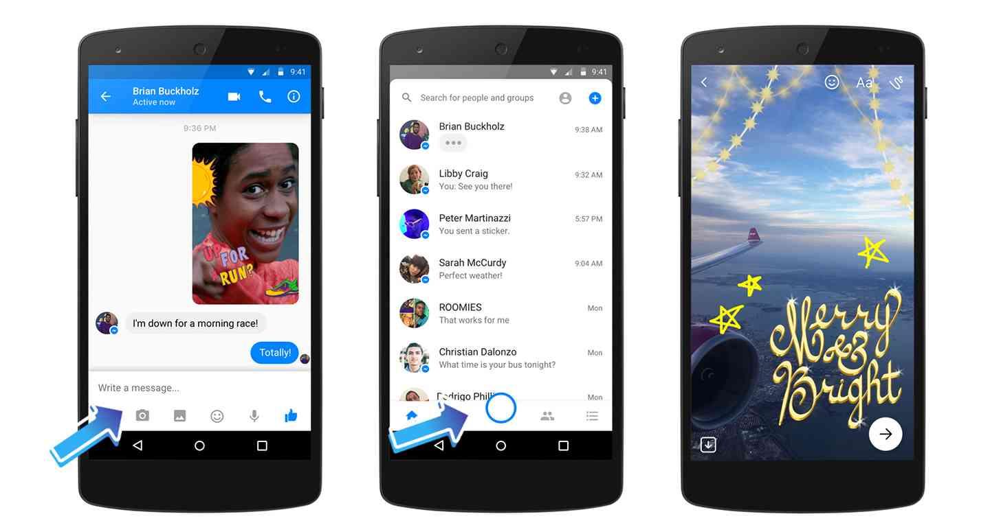Facebook Messenger Gets New Camera With Masks Filters