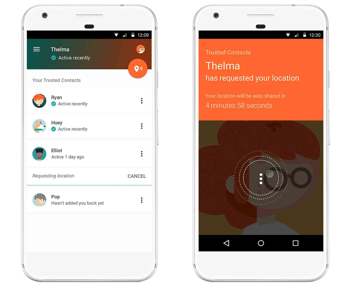 Google Trusted Contacts Android app