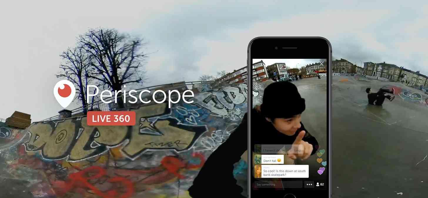 Periscope Live 360 degree video