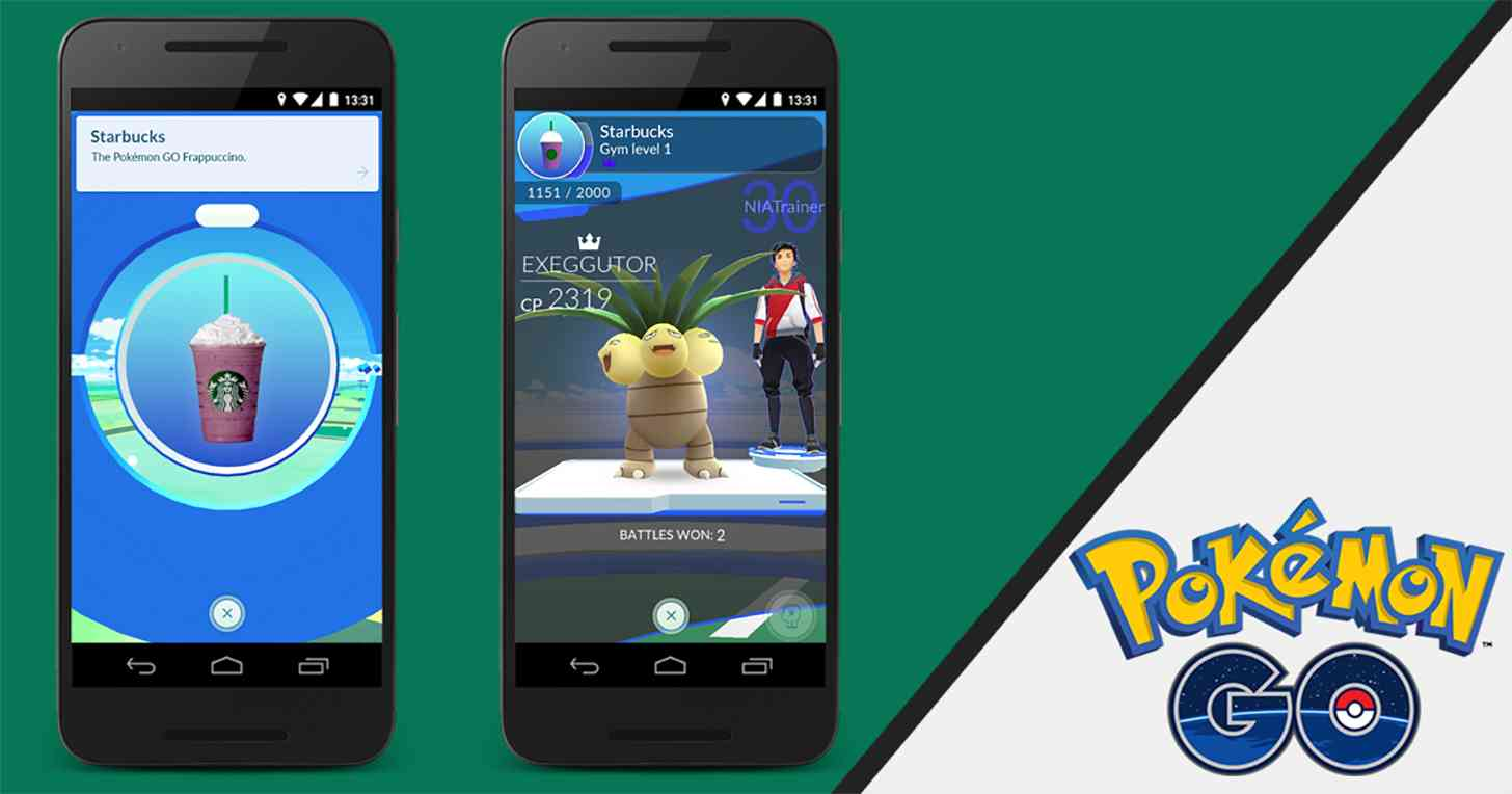 Pokémon Go Starbucks partnership