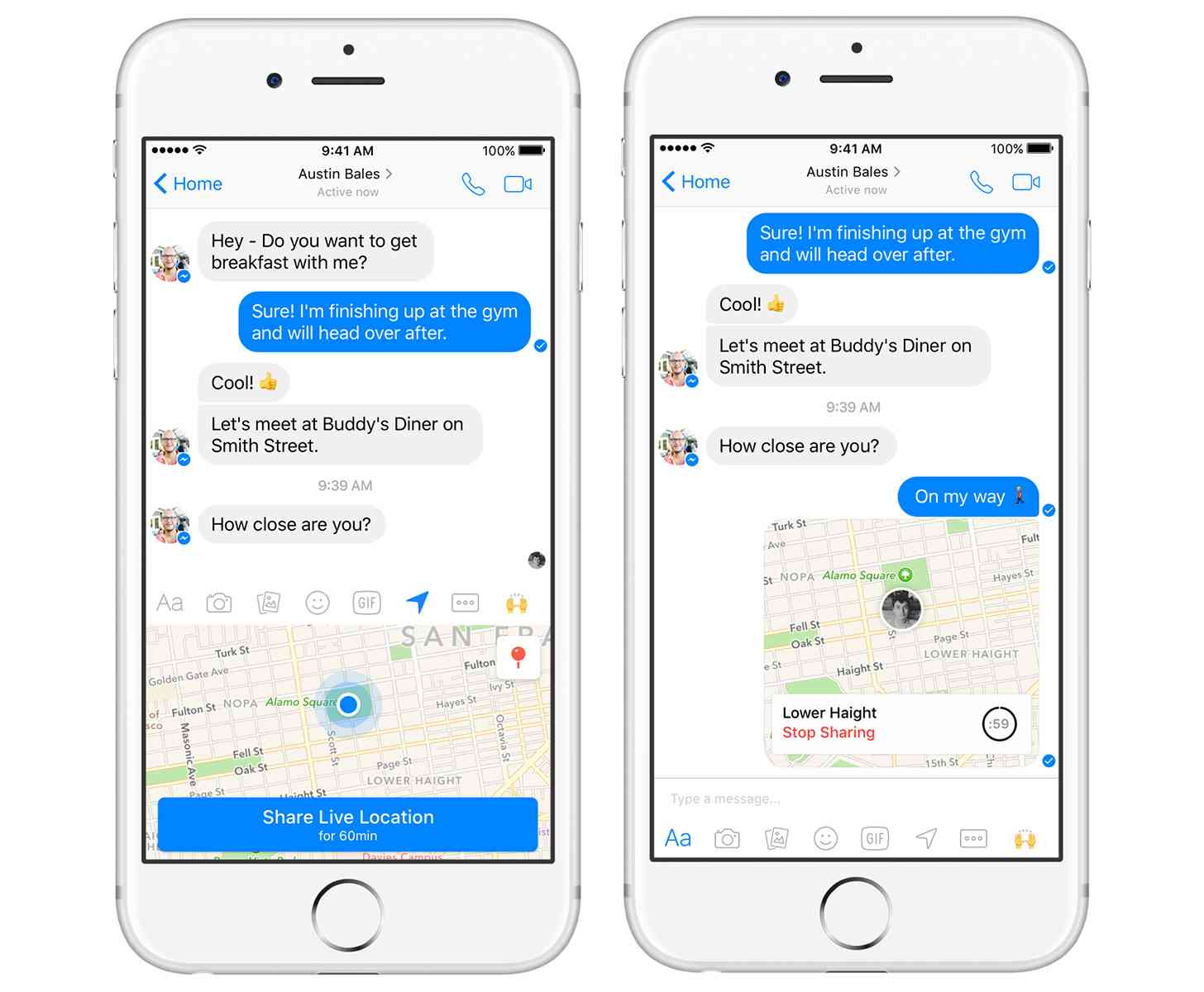 Facebook Messenger Live Location feature official