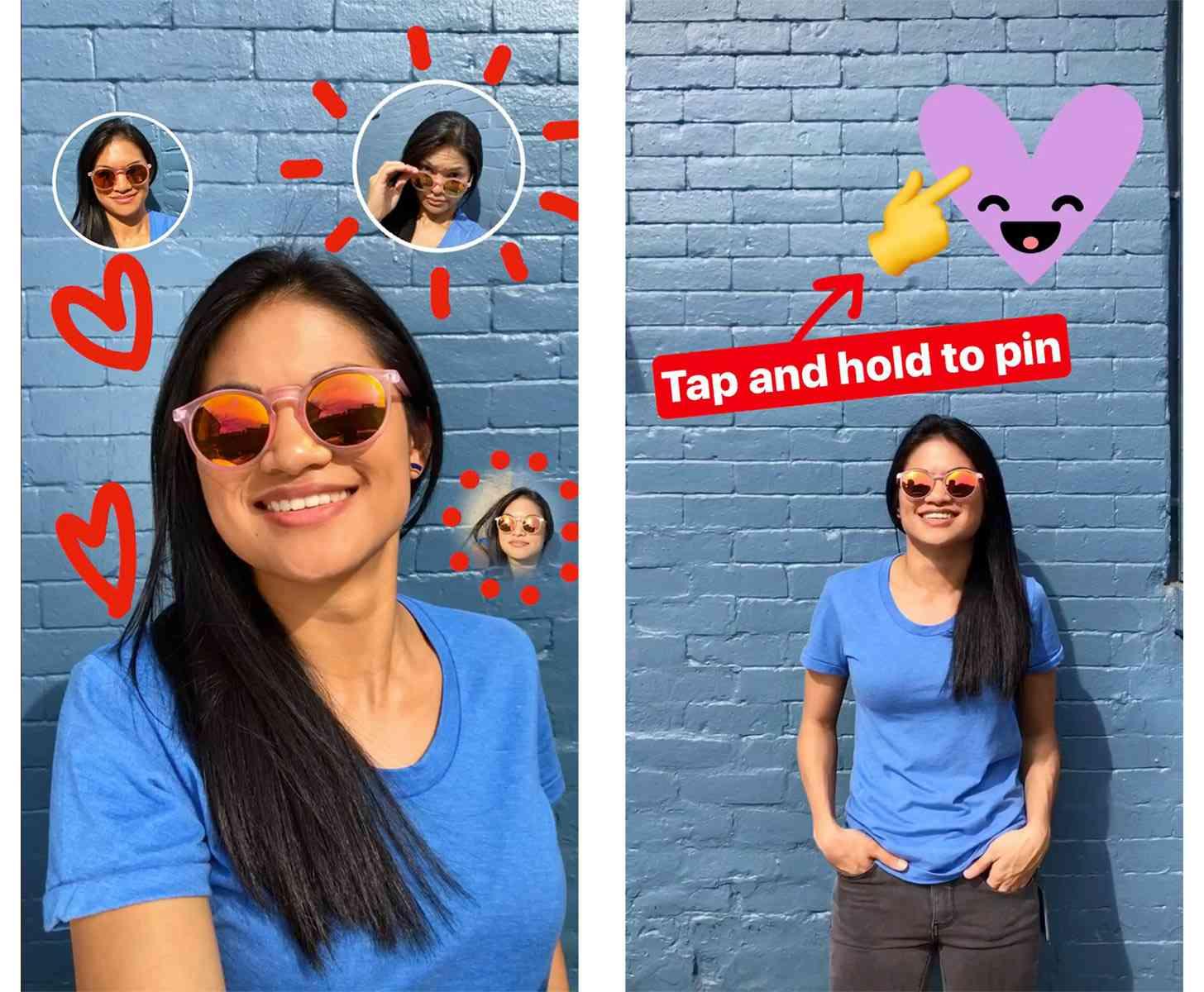 Instagram Stories selfie stickers