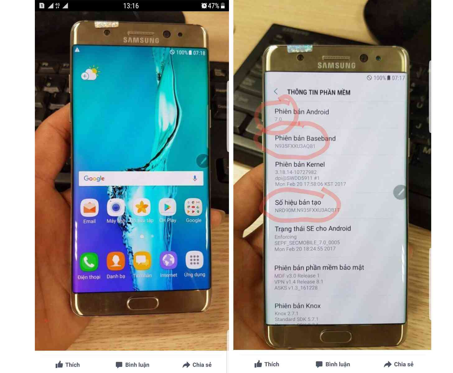 Refurbished Samsung Galaxy Note 7 photos leak