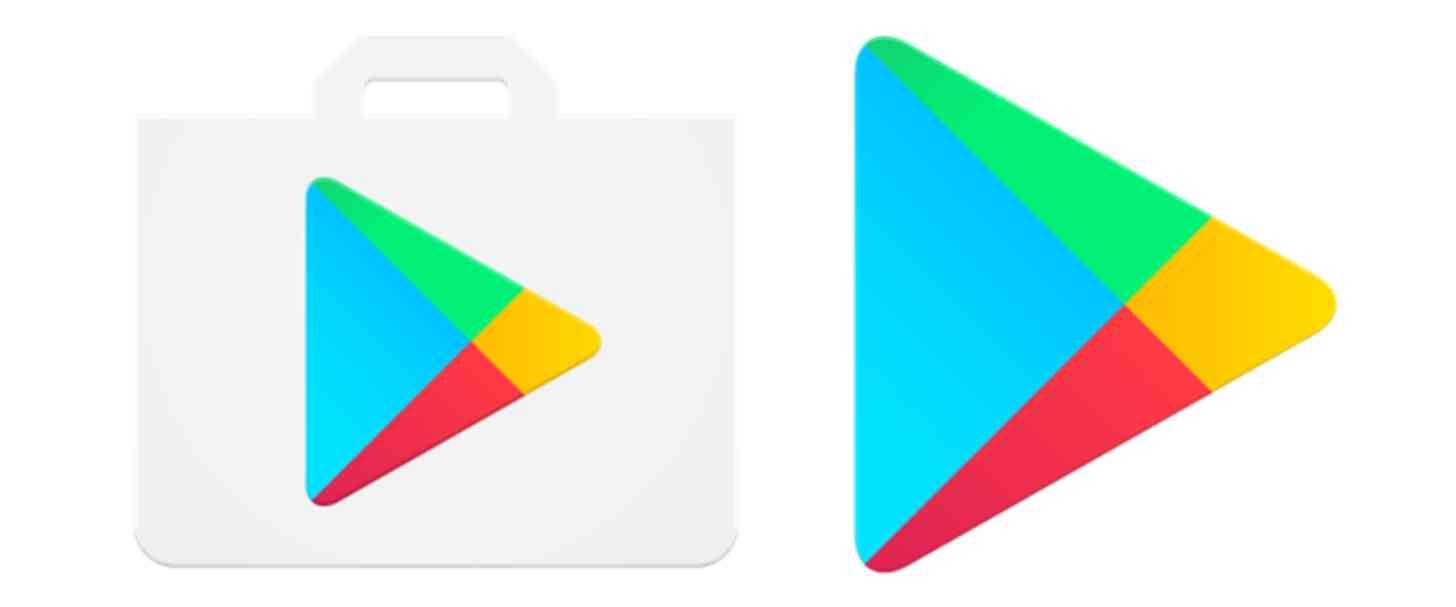 Google Play Store new vs old icon comparison