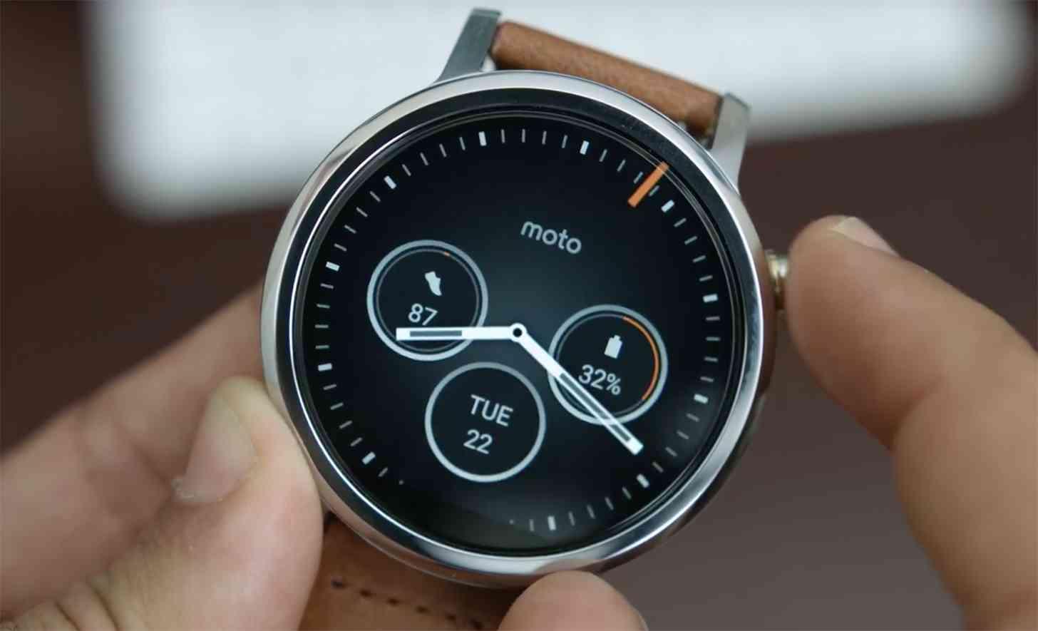 Moto 360 2nd Gen hands-on video
