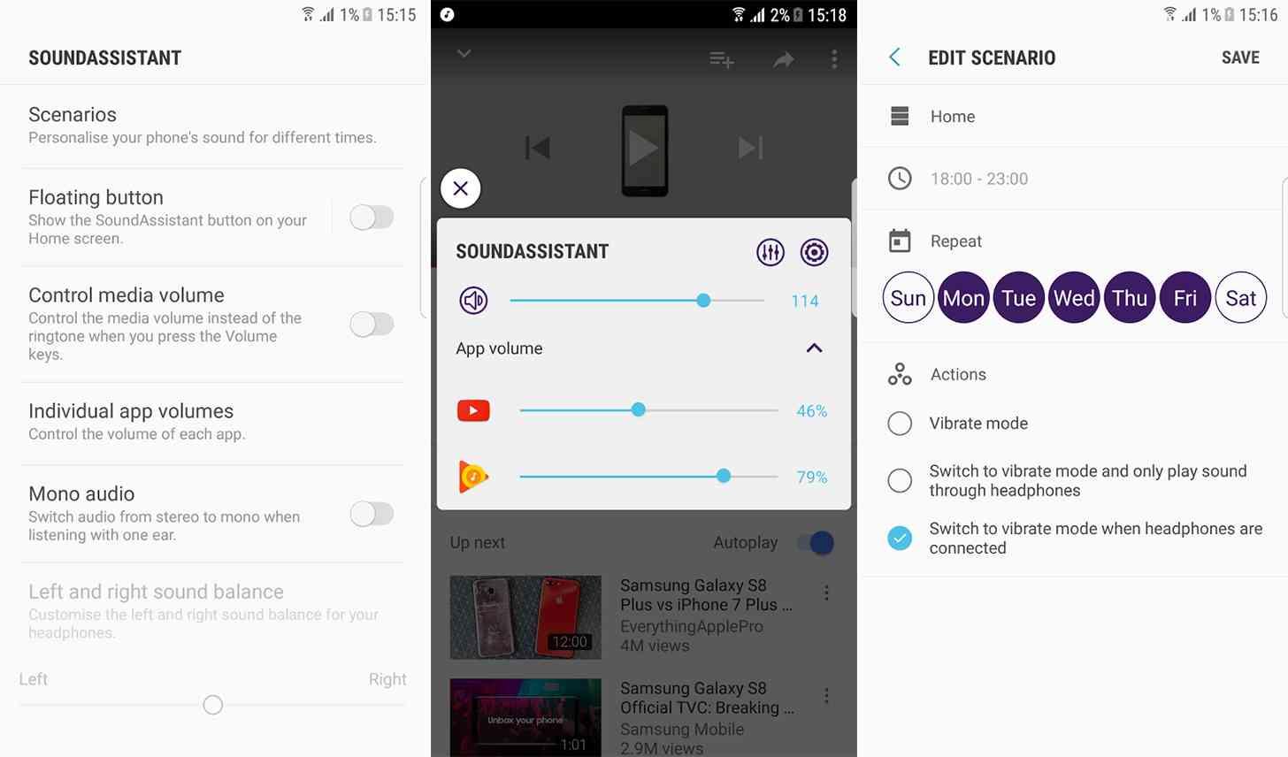 Samsung SoundAssistant app features