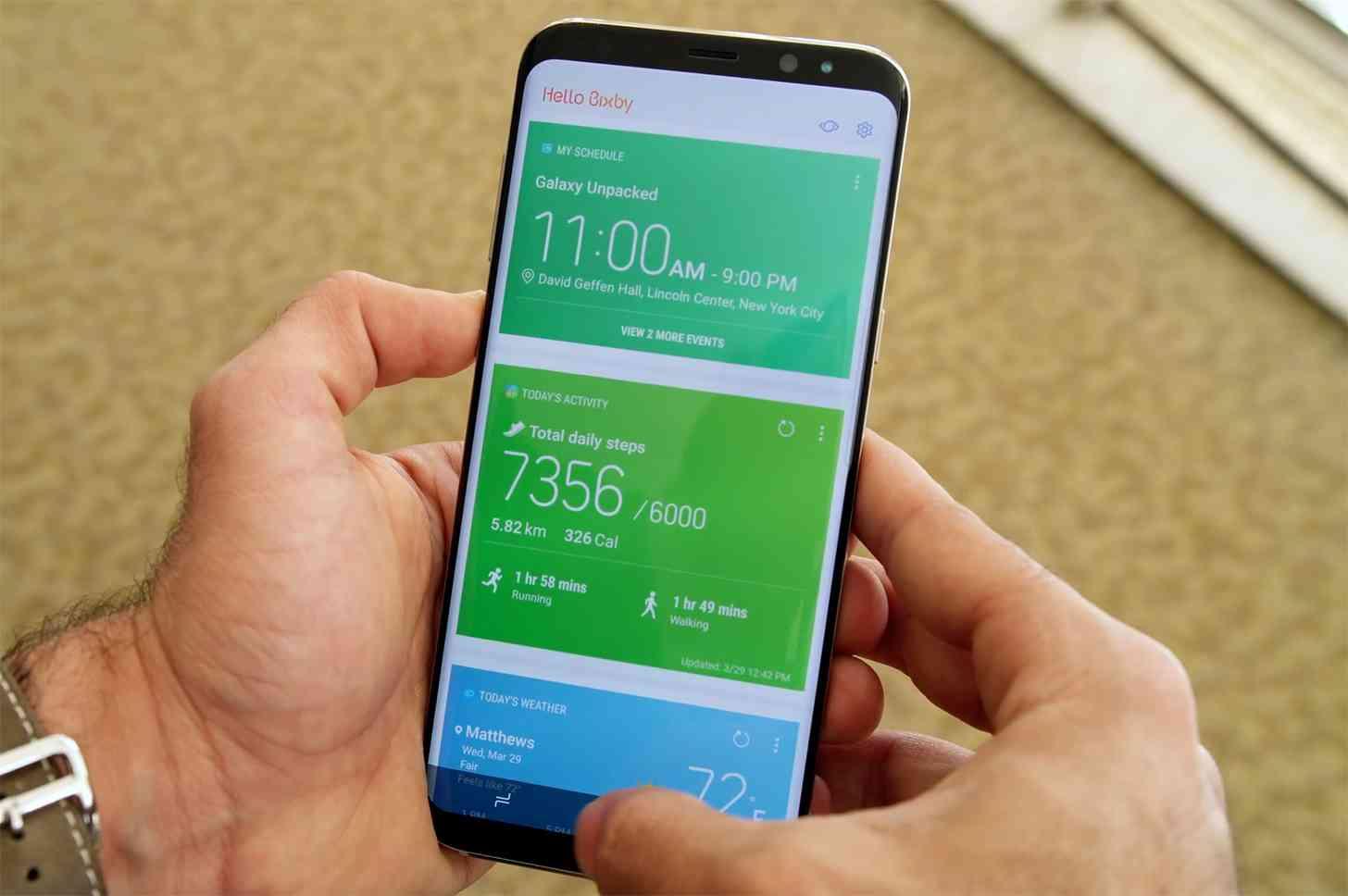 Samsung Galaxy S8 Bixby hands-on