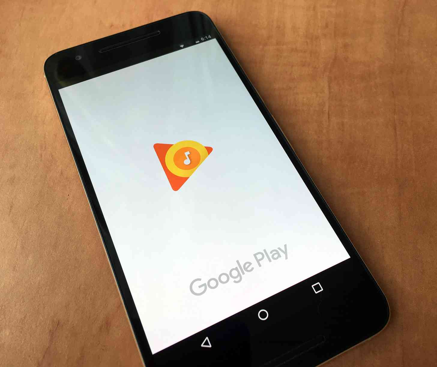 Google Play Music Android app splash screen