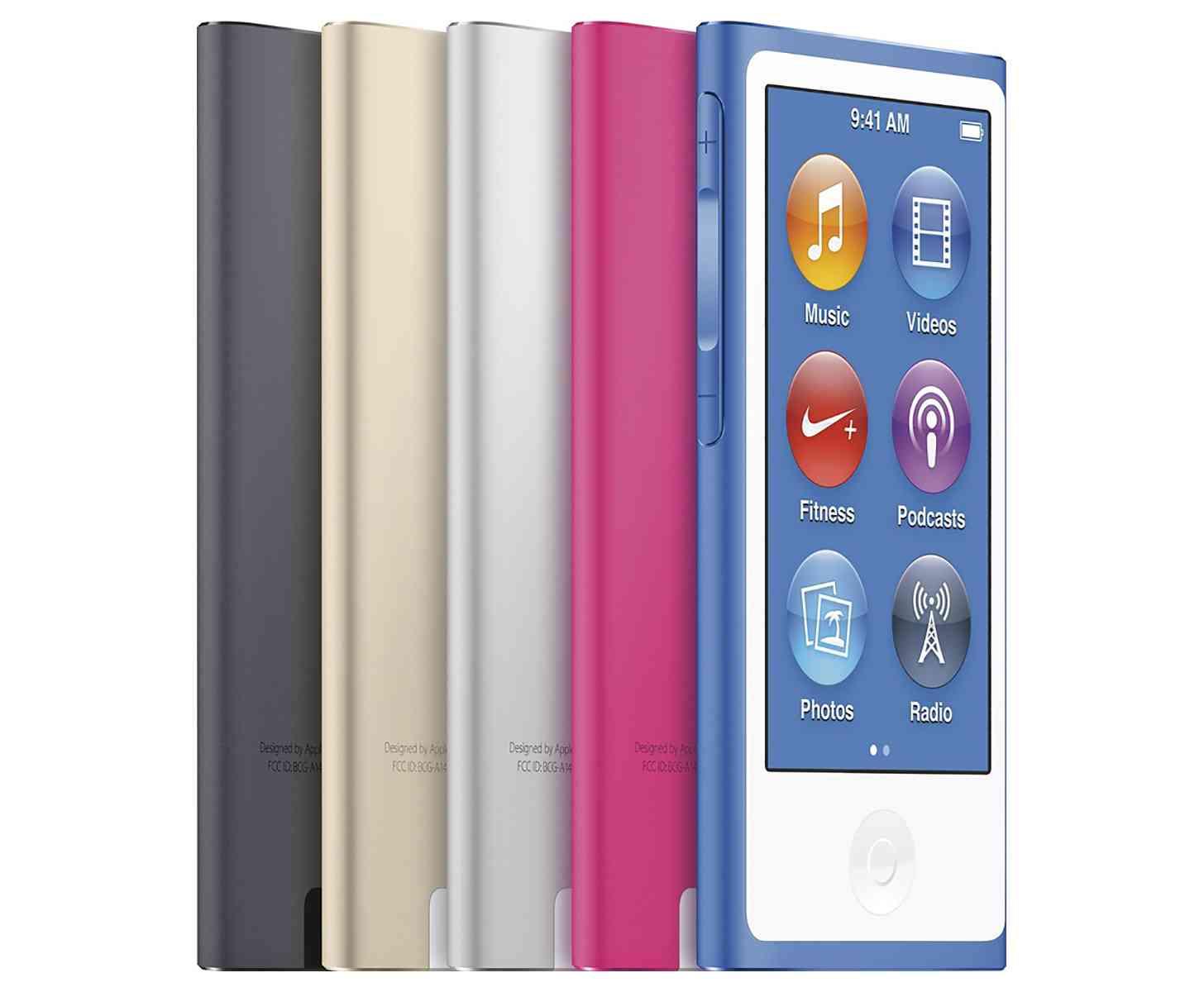 iPod nano colors group