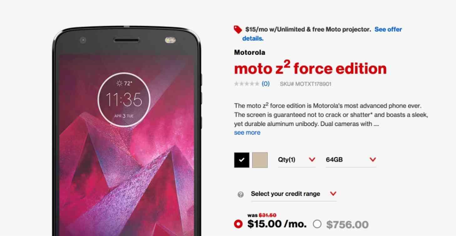 Moto Z2 Force Verizon Wireless