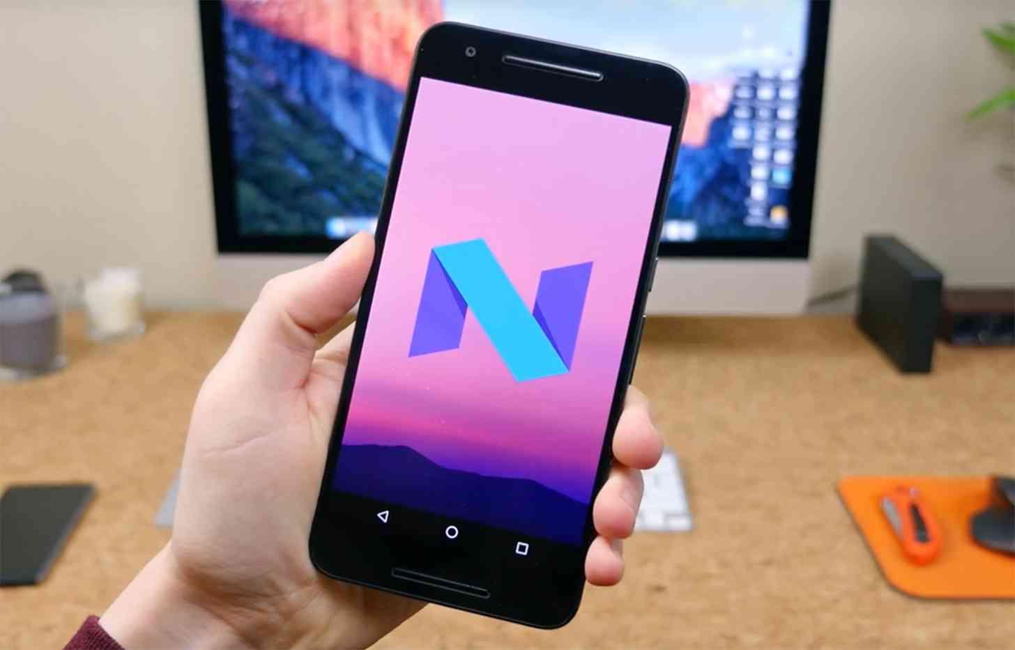 Android Nougat Easter egg Nexus 6P
