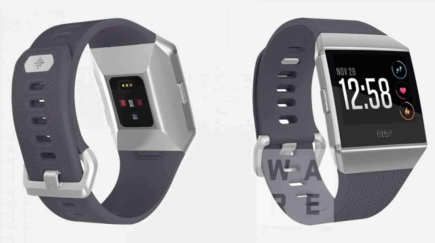 Fitbit smartwatch Higgs leak gray