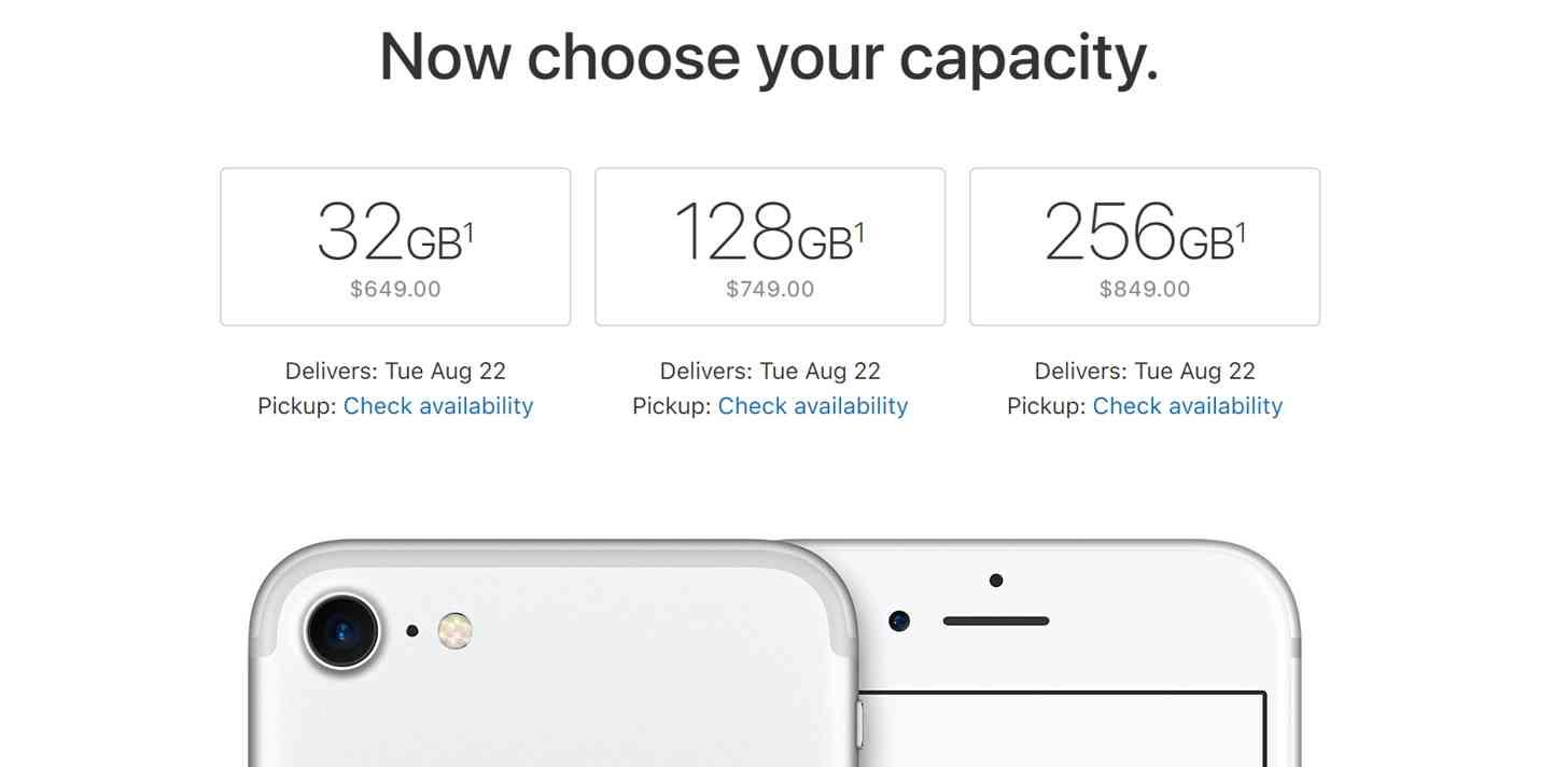 iPhone capacity