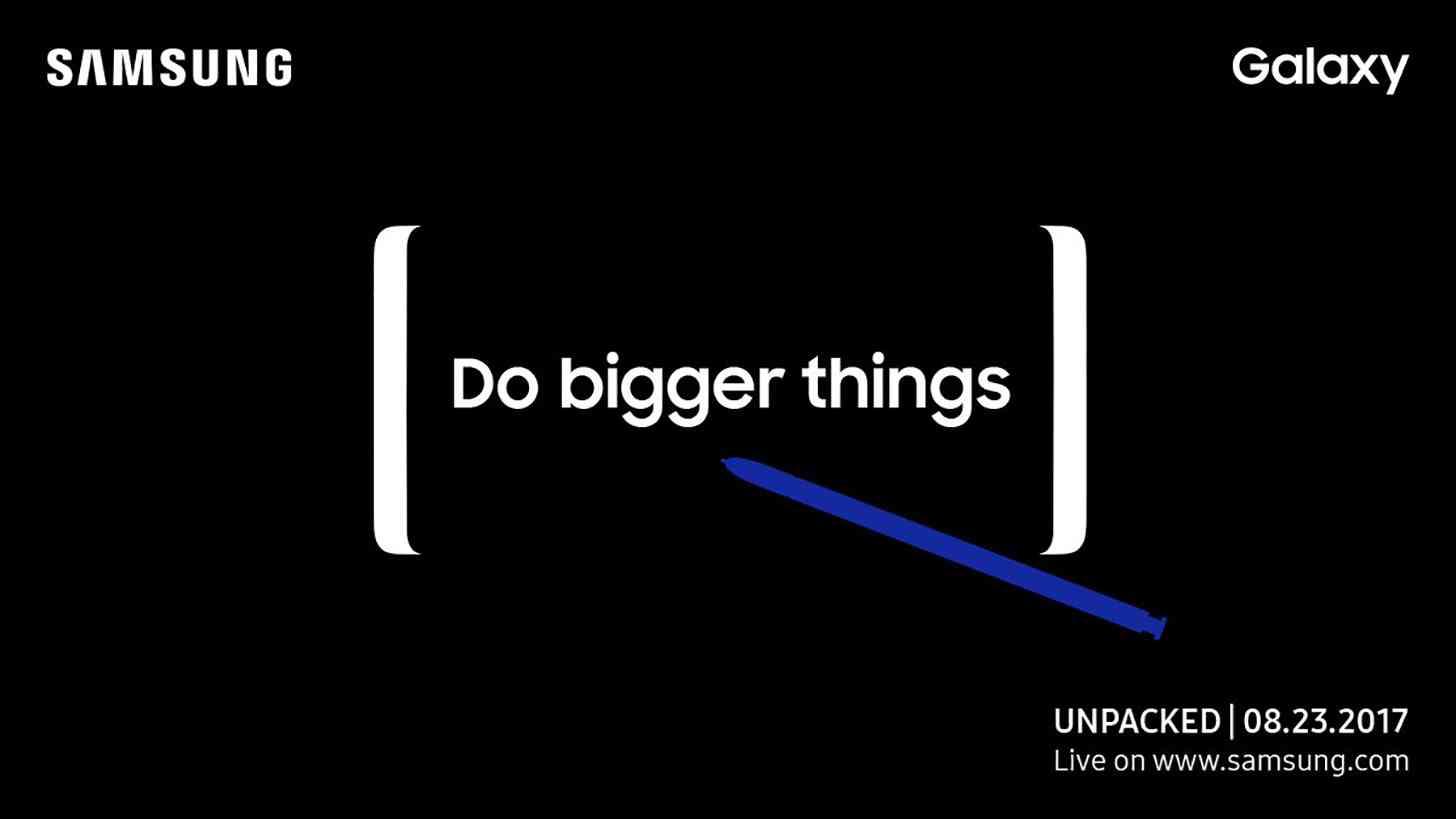 Samsung Galaxy Note 8 event teaser