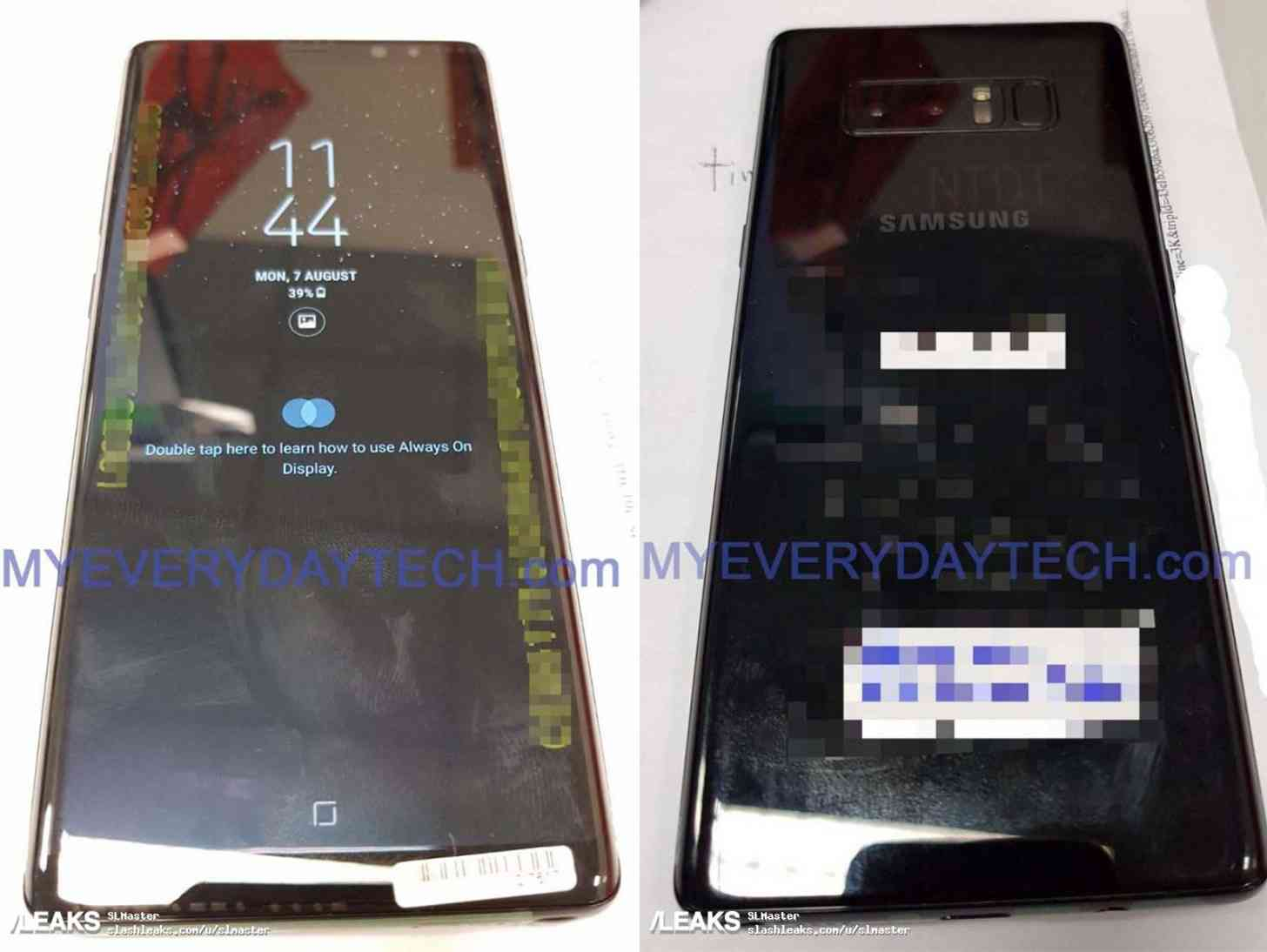 Samsung Galaxy Note 8 live photos