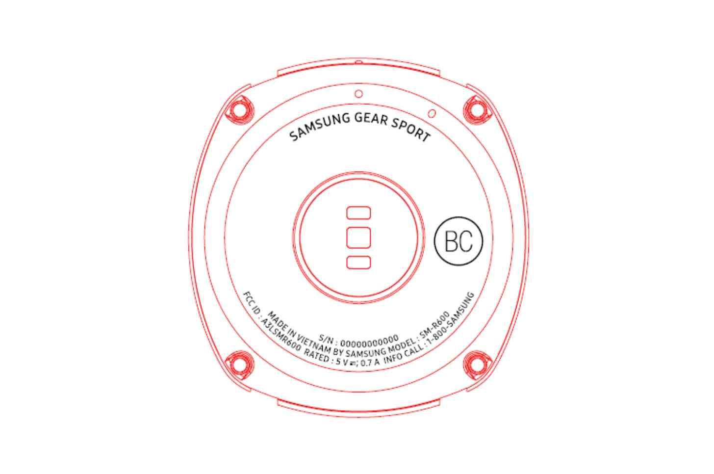 Samsung Gear Sport FCC entry