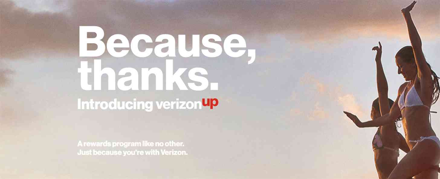 Verizon Up rewards program official