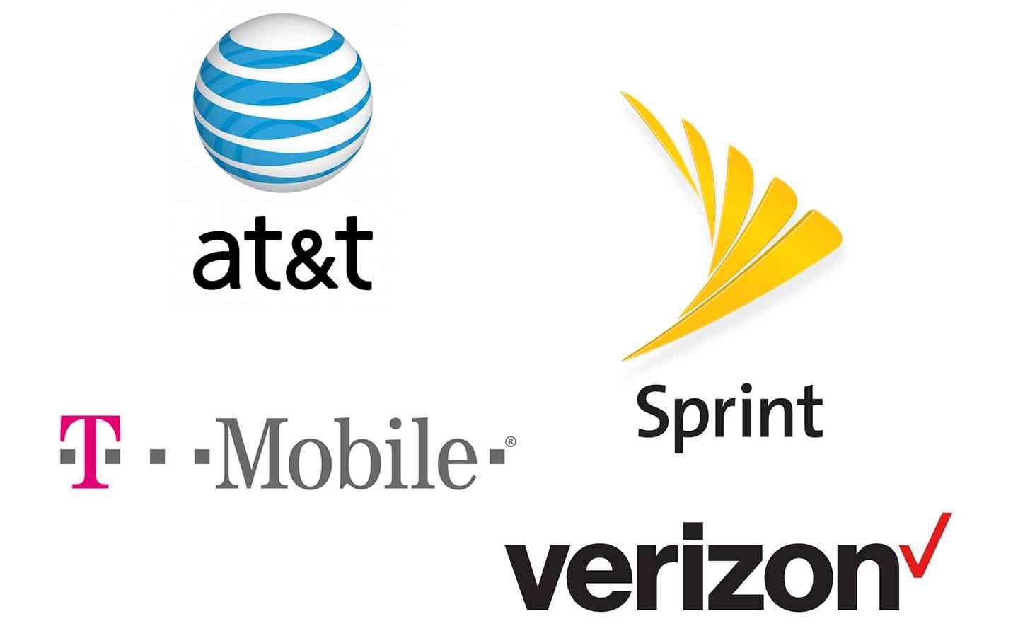 Big four U.S. carriers logos