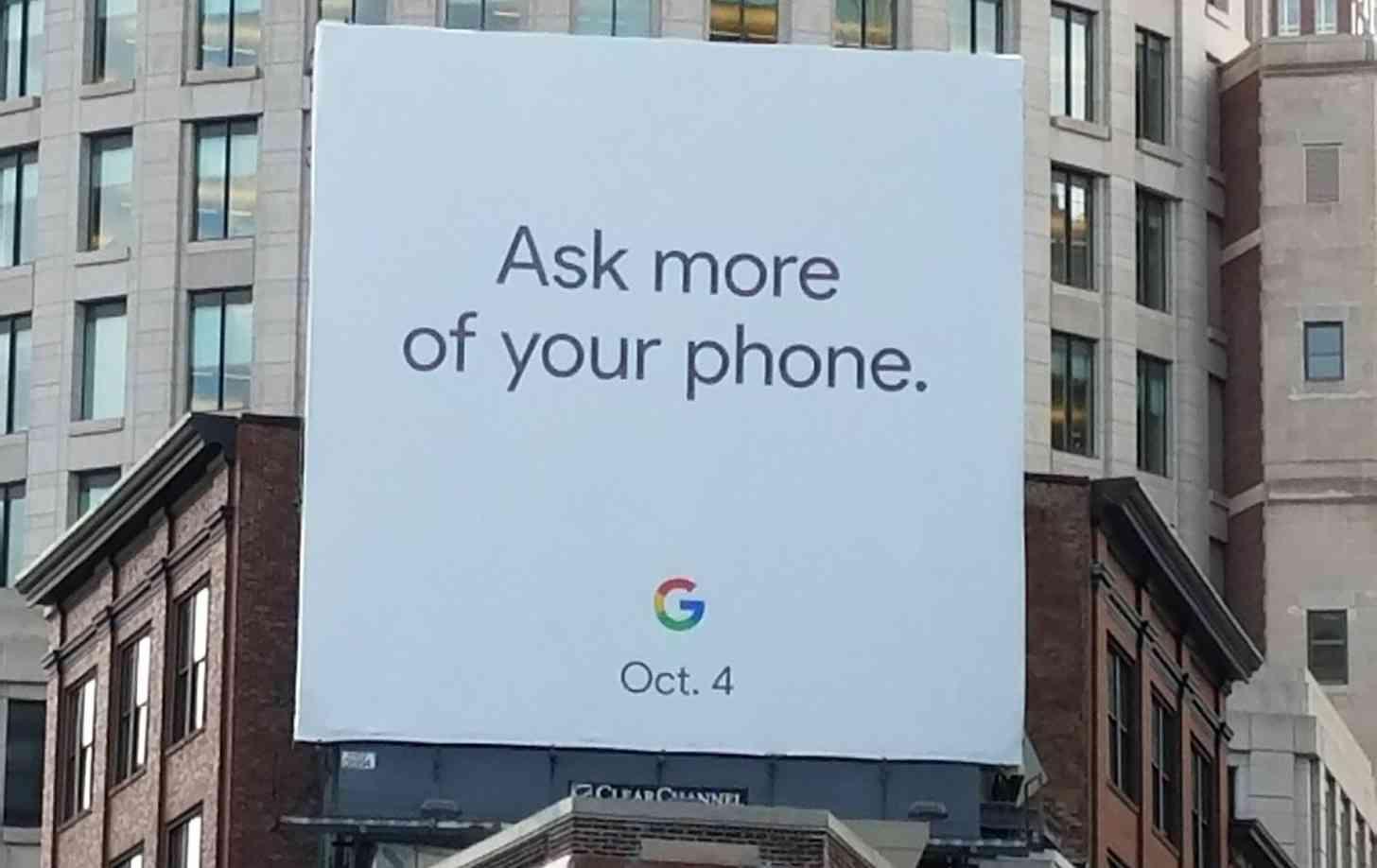 Google Pixel 2 event billboard October 4