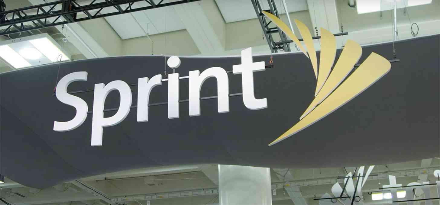 Sprint logo MWC booth