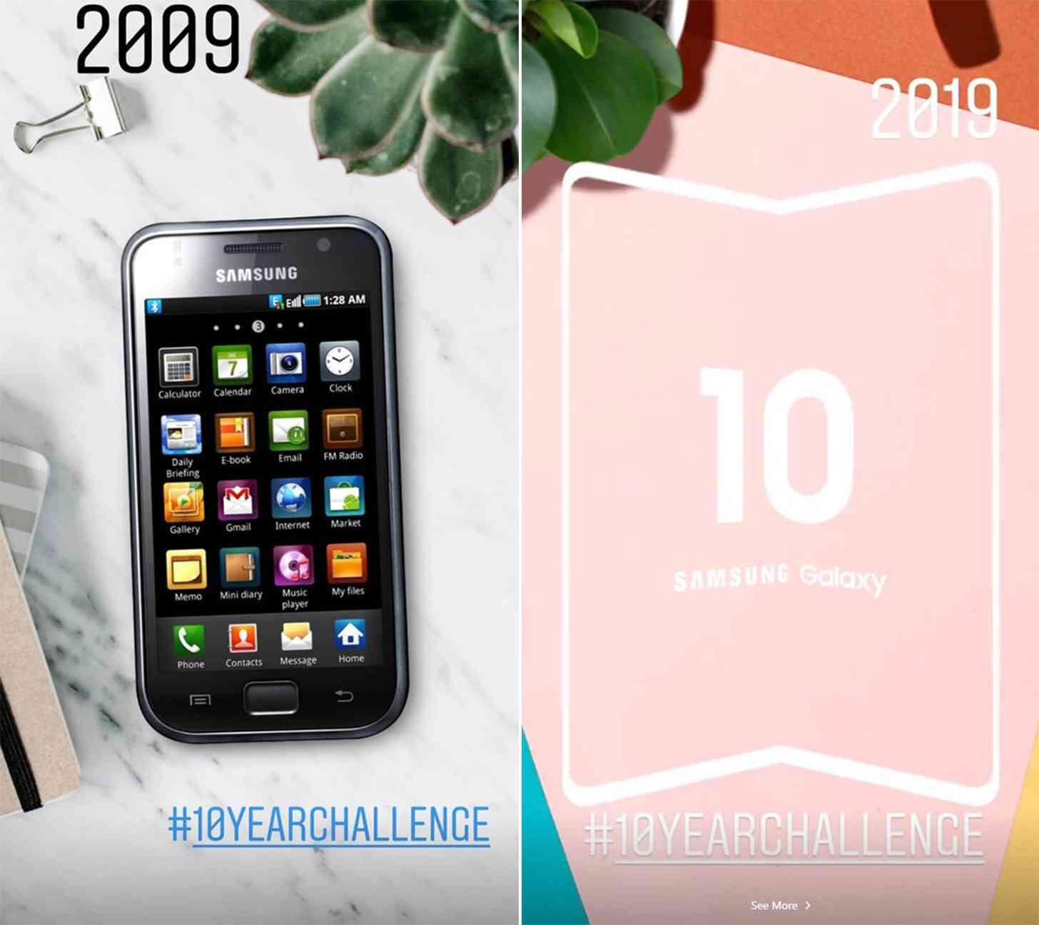 Samsung #10YearChallenge foldable smartphone teaser