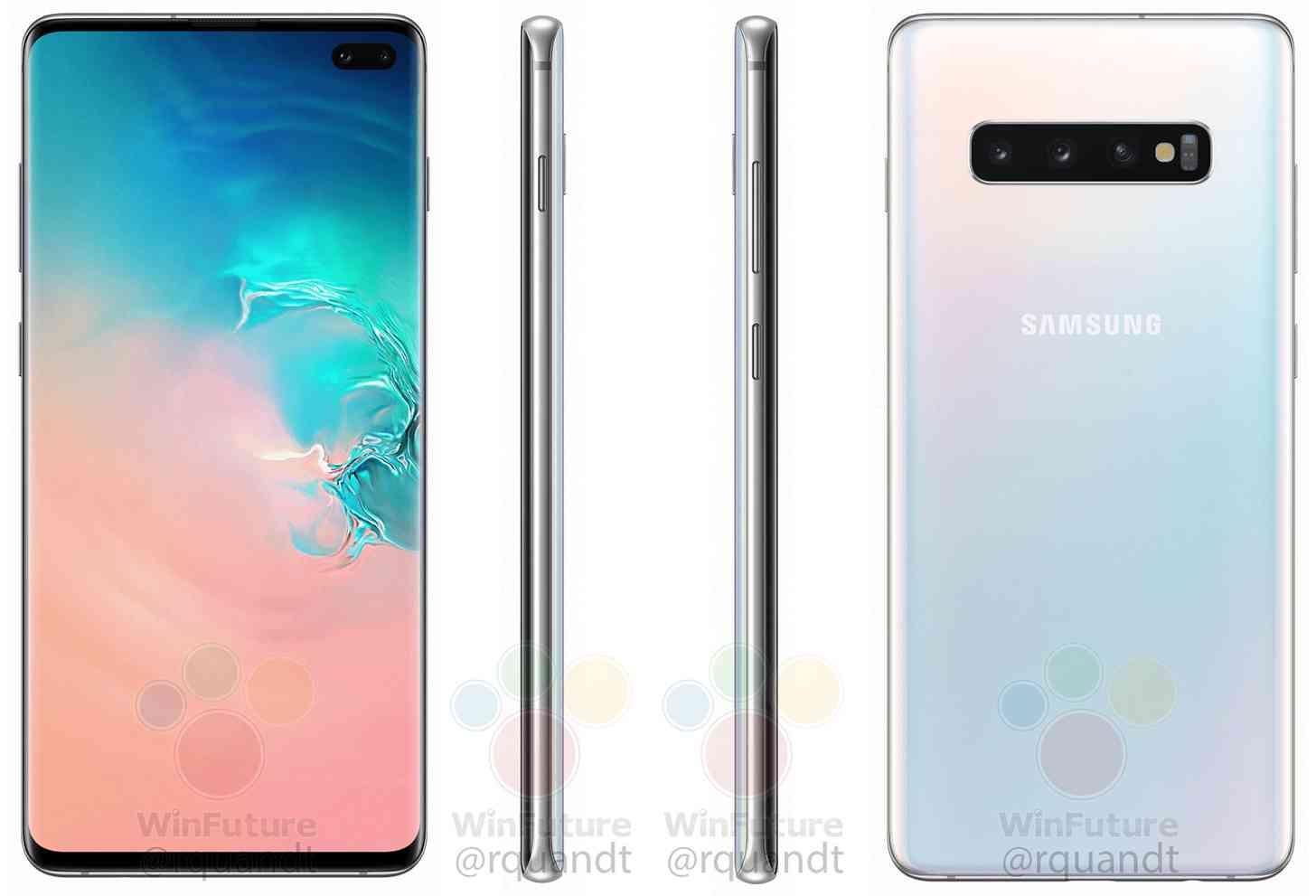 Samsung Galaxy S10+ renders