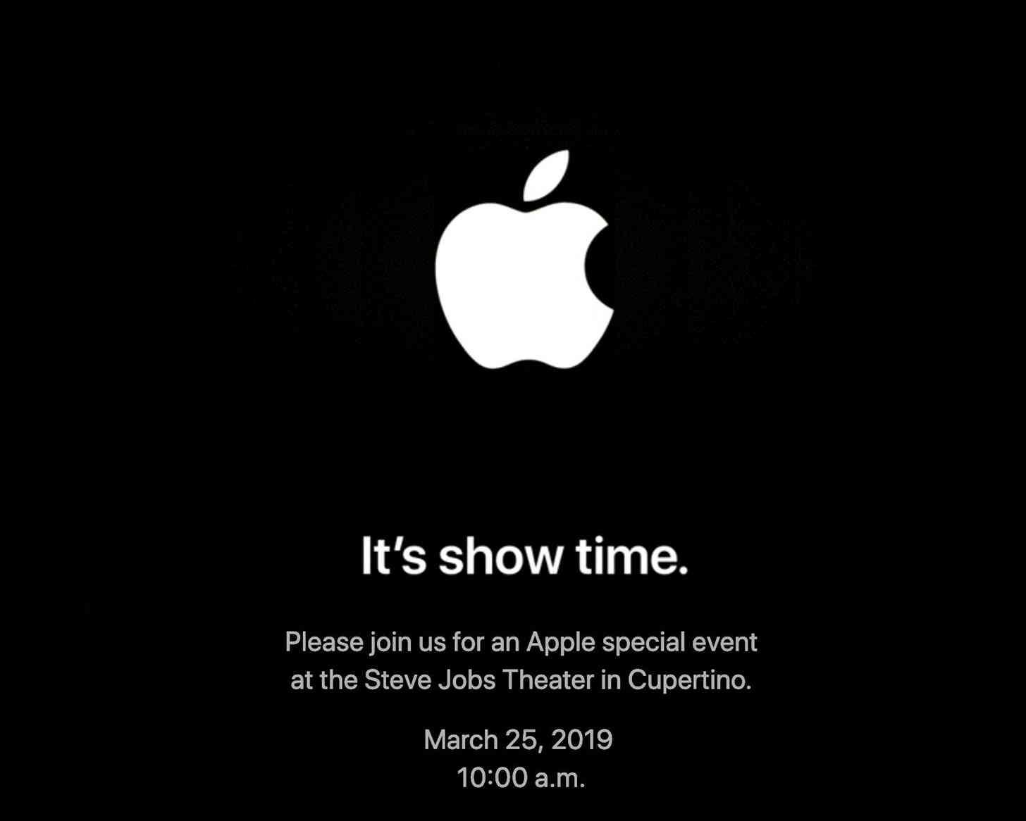 Apple March 25 event invitation