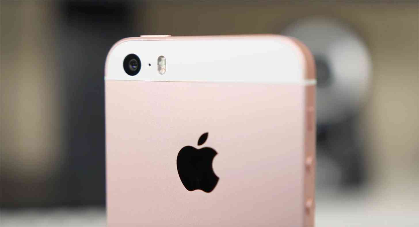Apple logo iPhone SE