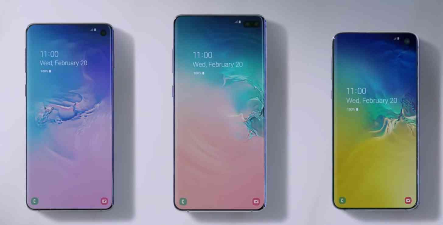 Samsung Galaxy S10e, Galaxy S10, and Galaxy S10+