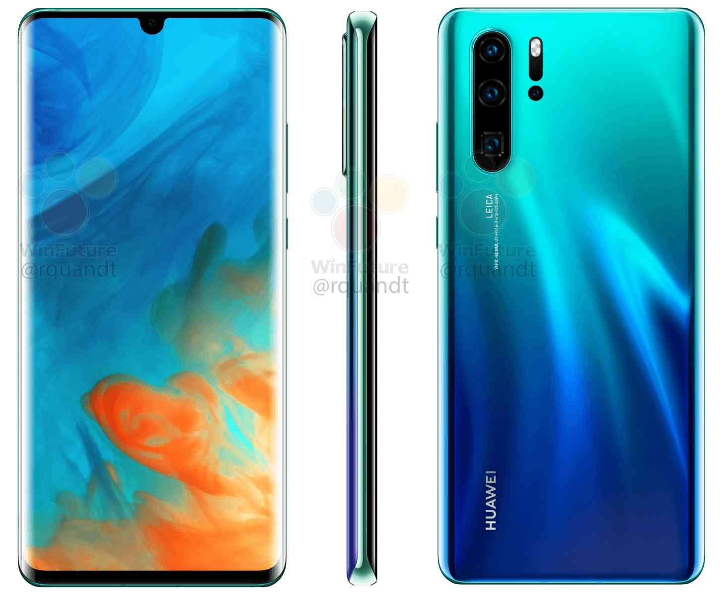 Huawei P30 Pro renders leak