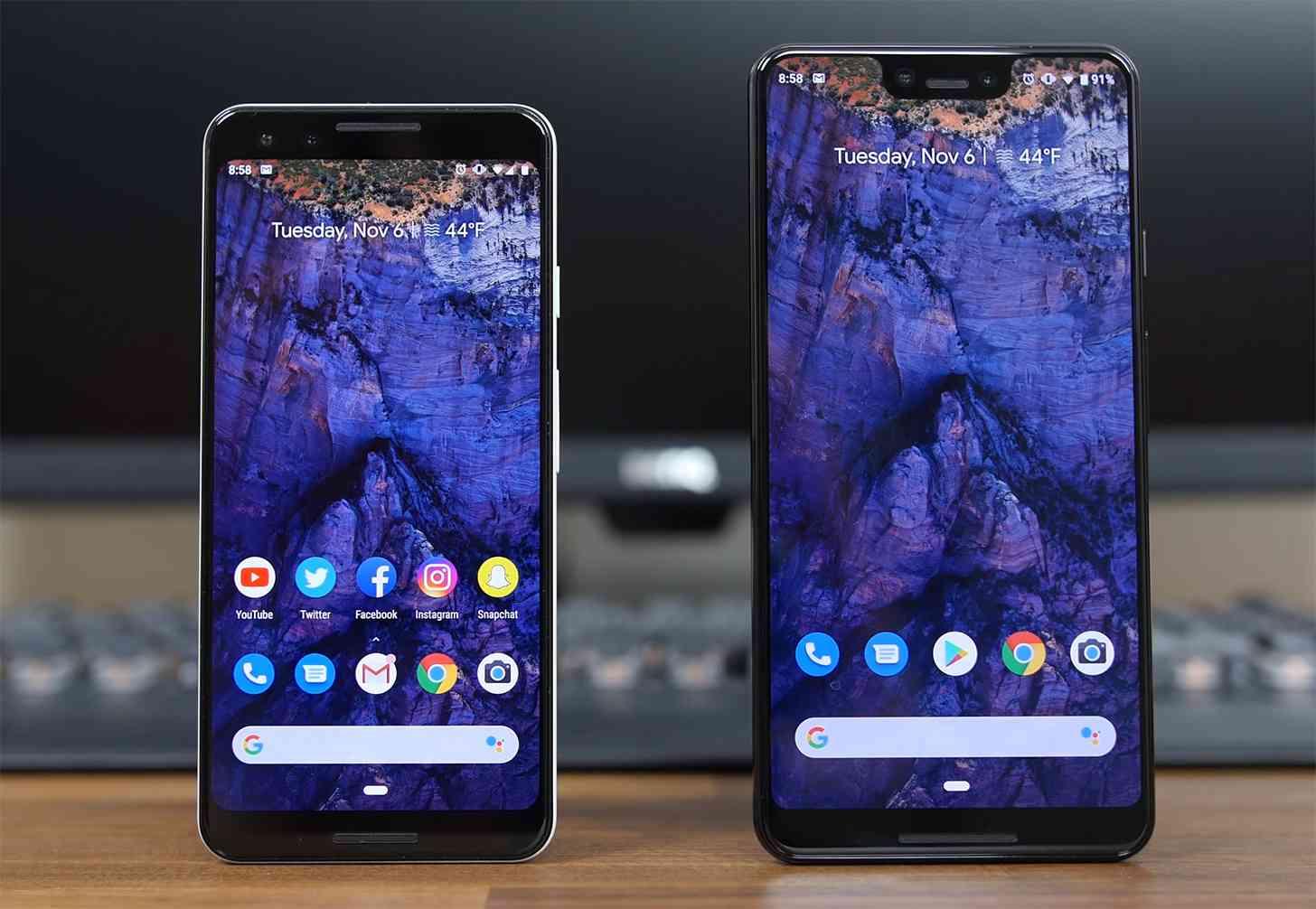 Google Pixel 3, Pixel 3 XL