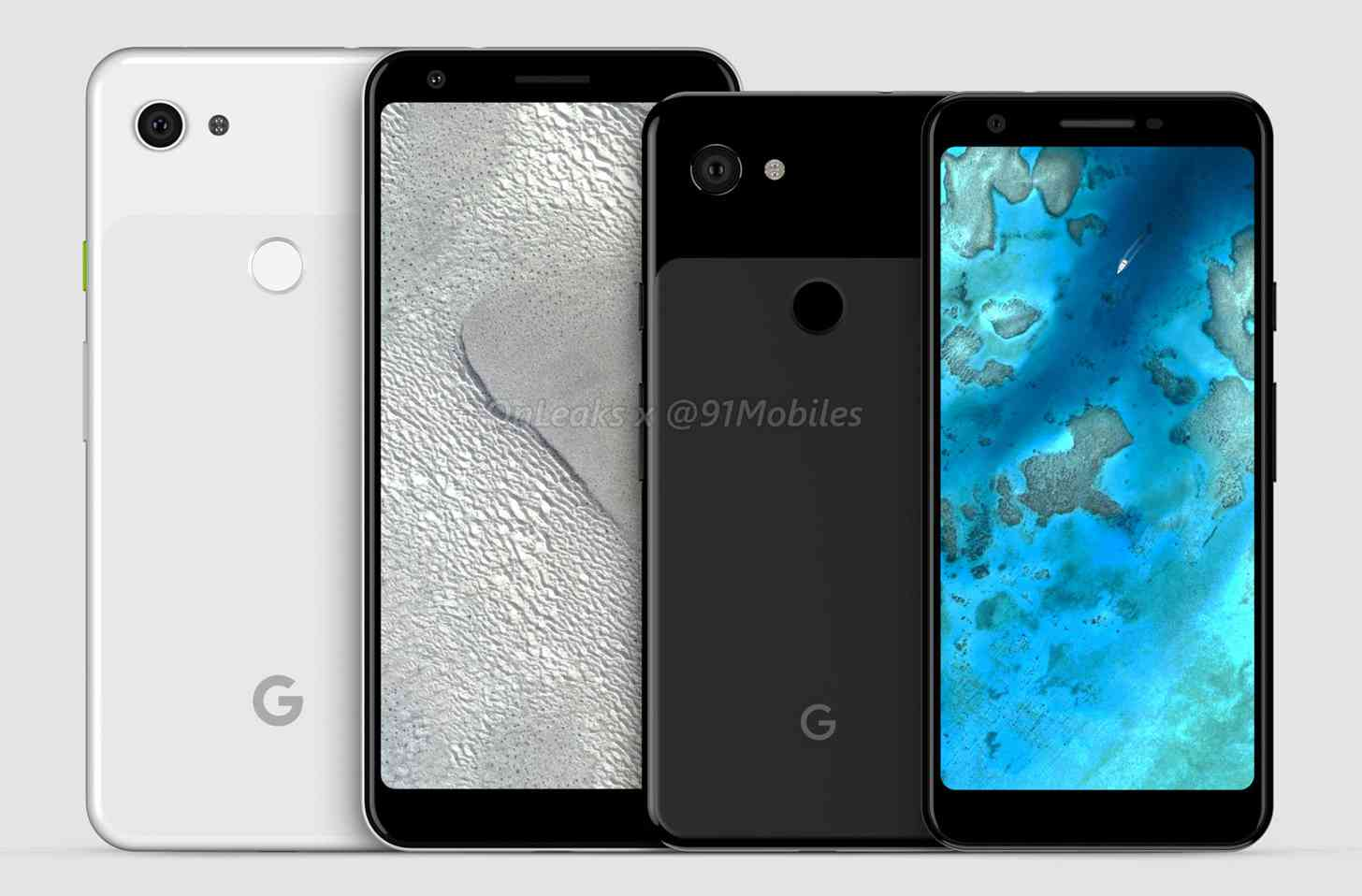 Google Pixel 3a, Pixel 3a XL renders