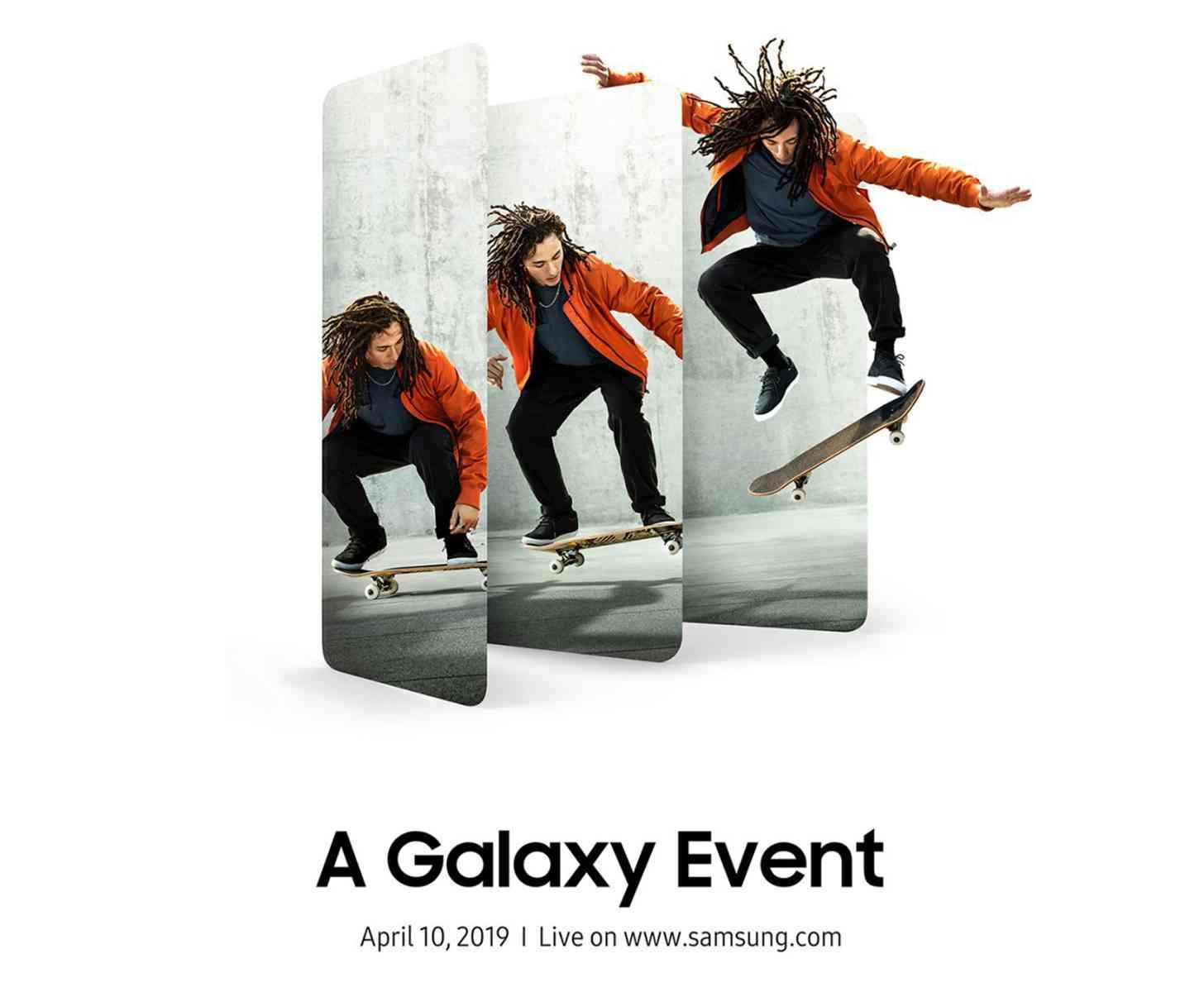Sasmung Galaxy event invitation April 10th