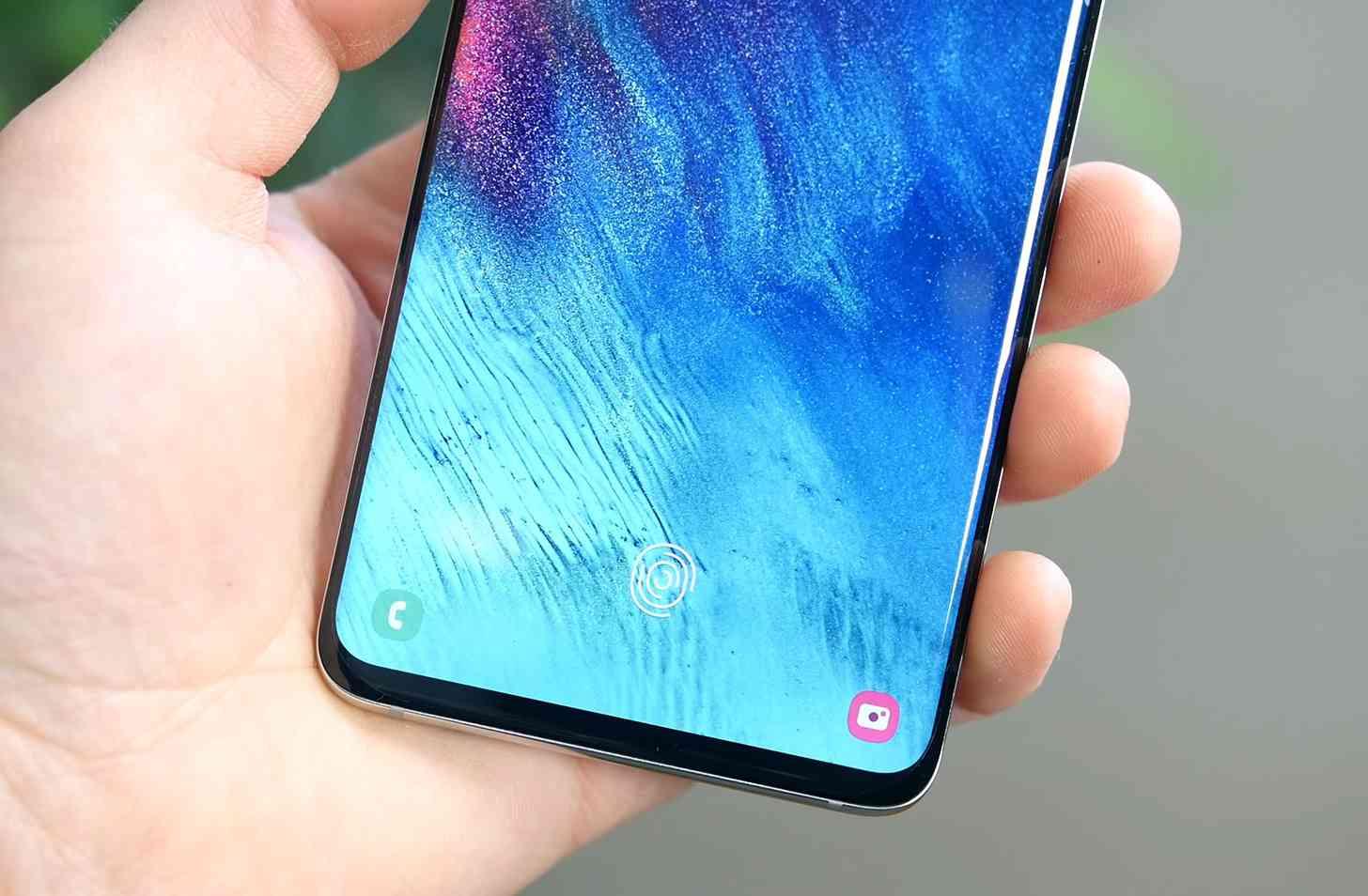 Samsung Galaxy S10 in-display fingerprint sensor