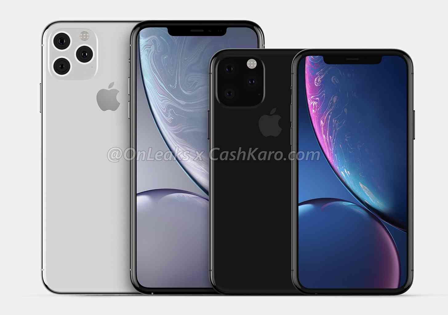 2019 iPhone renders