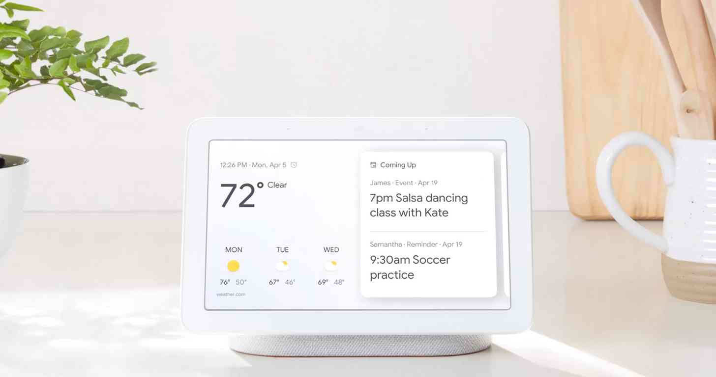 Google Home Hub screen