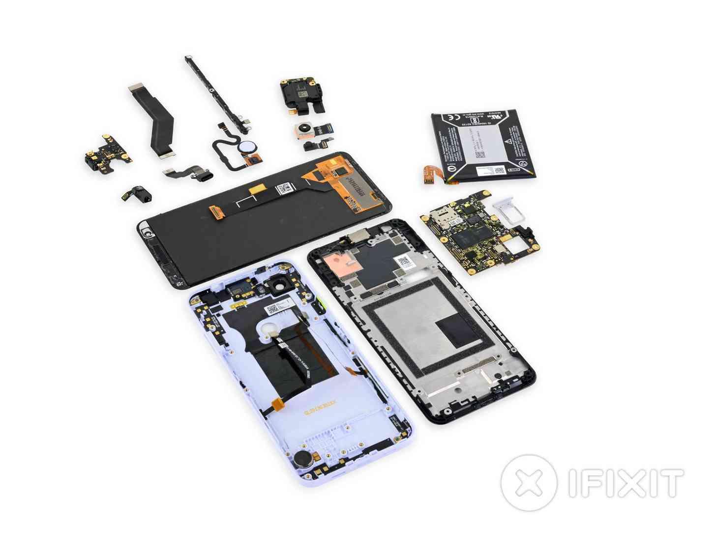 Pixel 3a teardown components