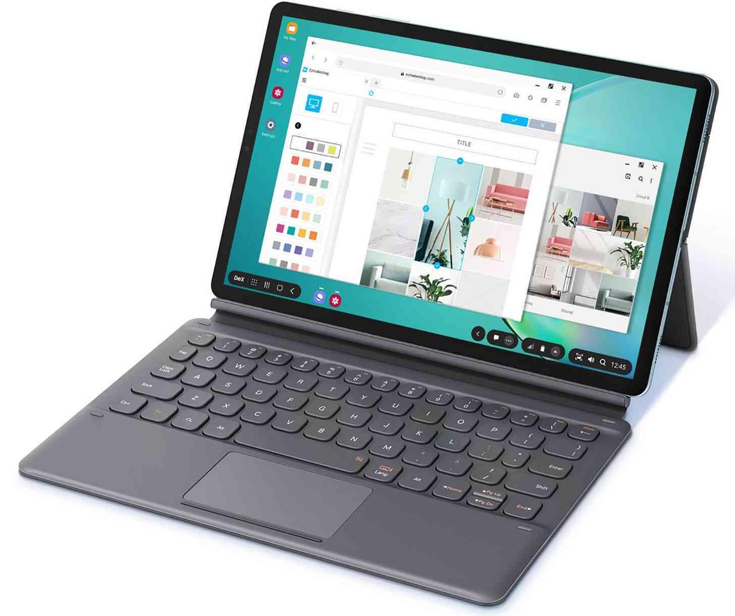 Samsung Galaxy Tab S6 with a keyboard