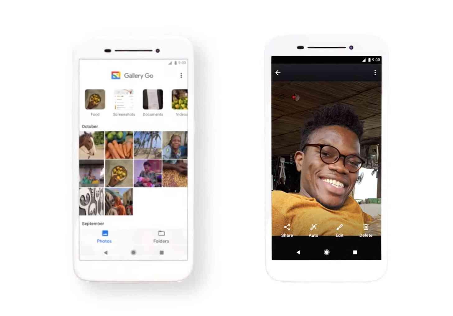 Google Gallery Go app screenshots