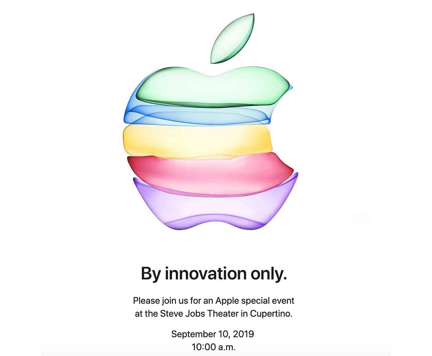 Apple iPhone 11 event invitation