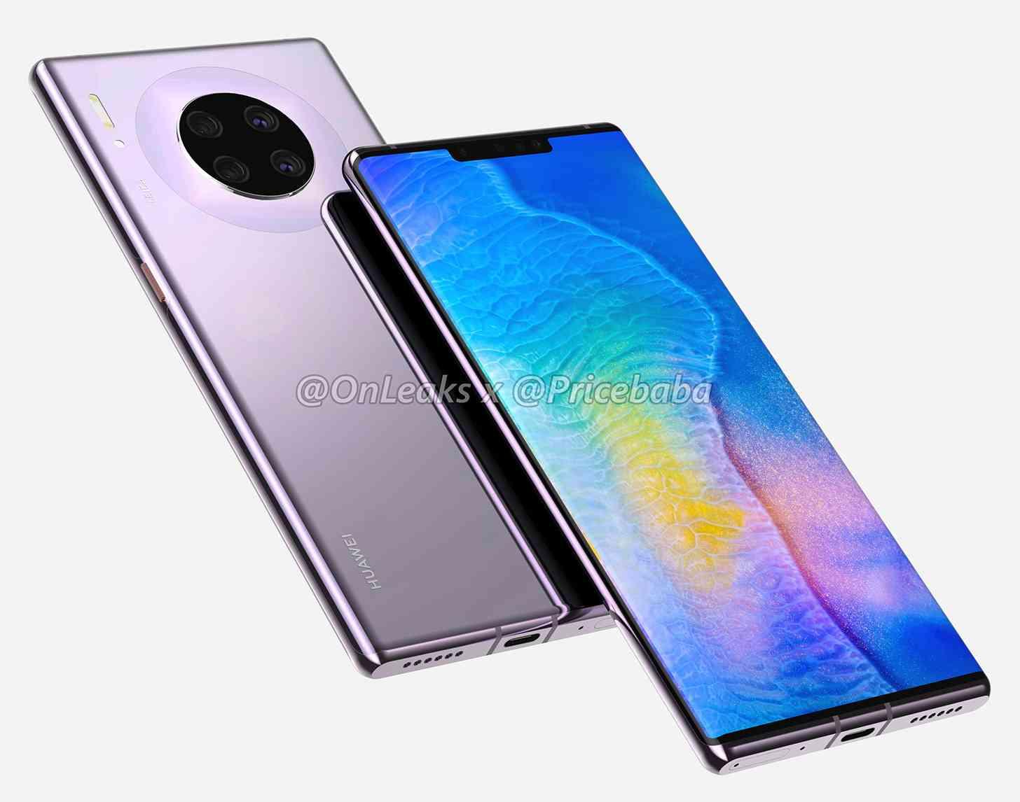 Huawei Mate 30 Pro renders