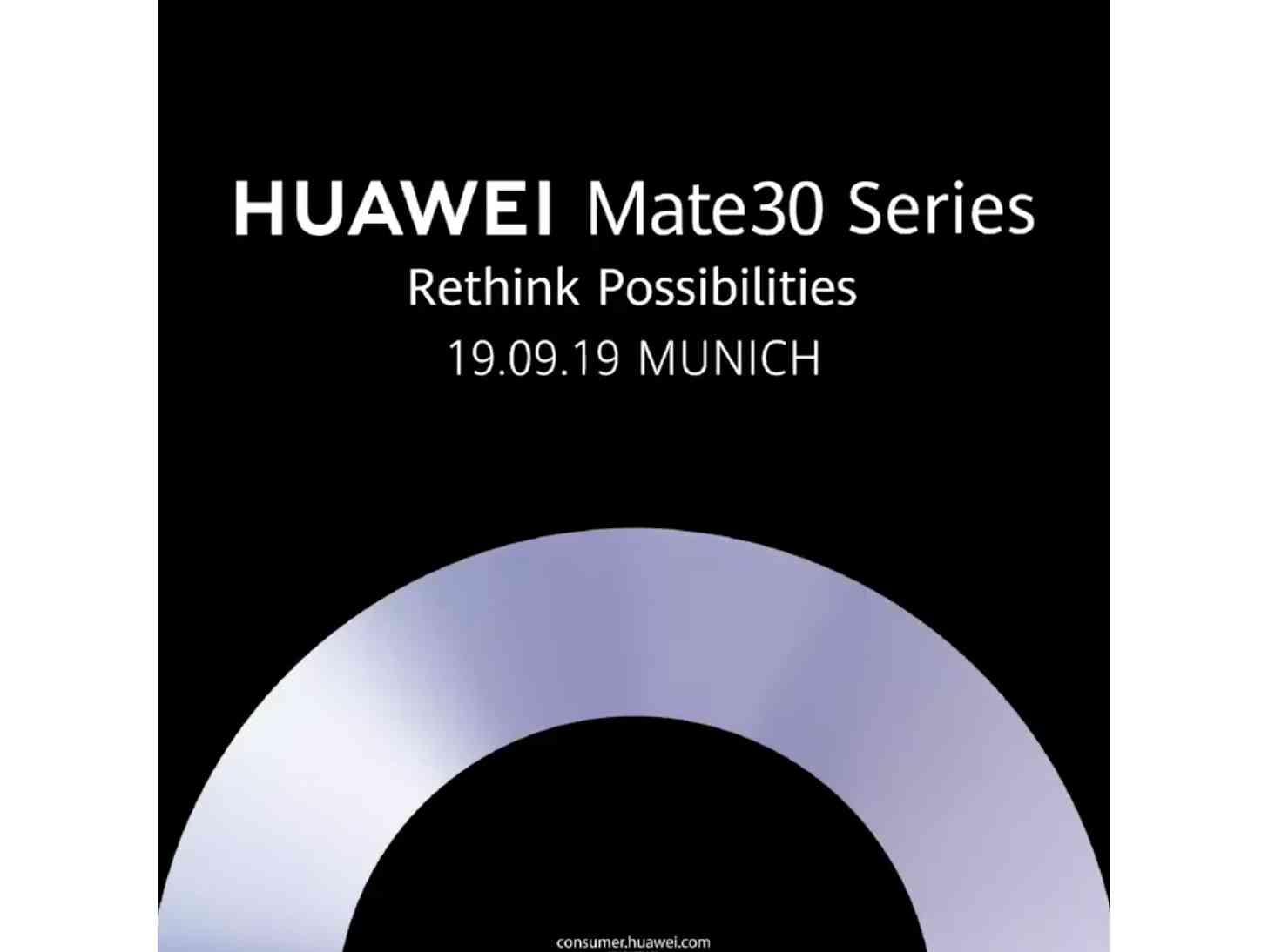Huawei Mate 30 event teaser