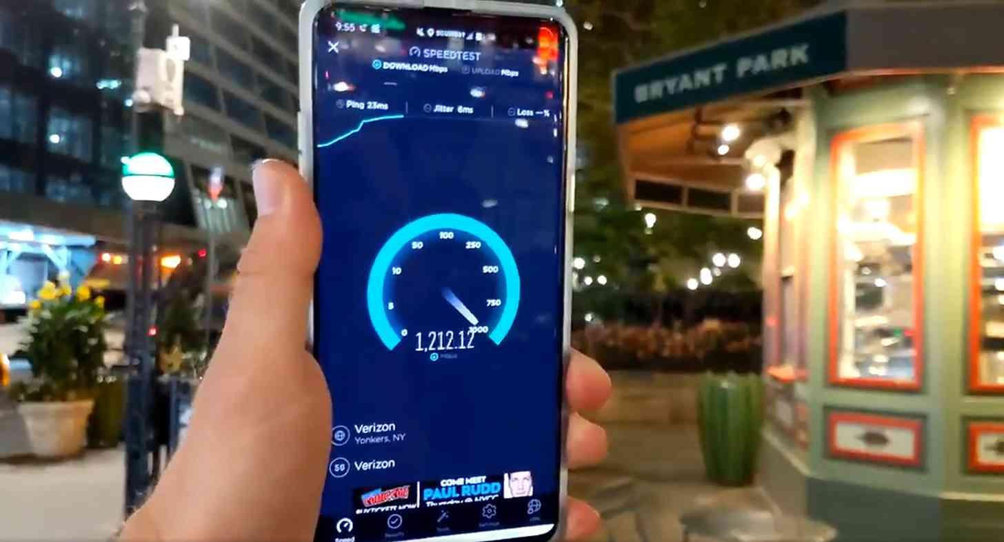 Verizon 5G New York City speed test