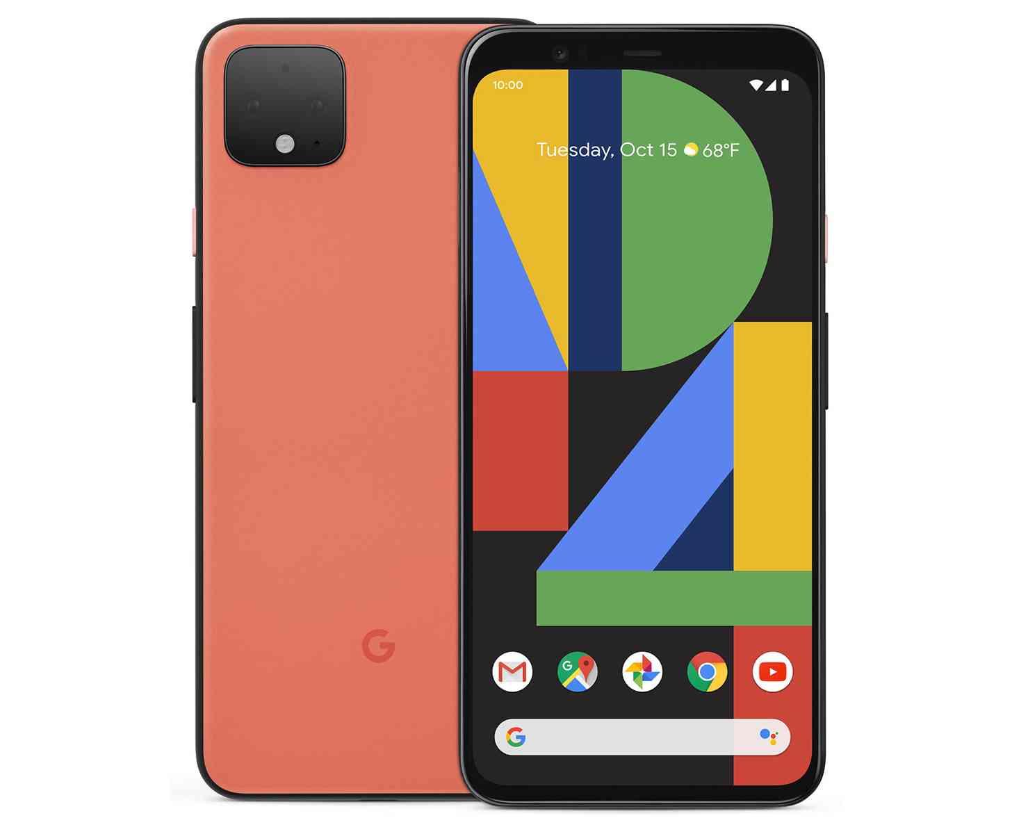 Google Pixel 4 in orange