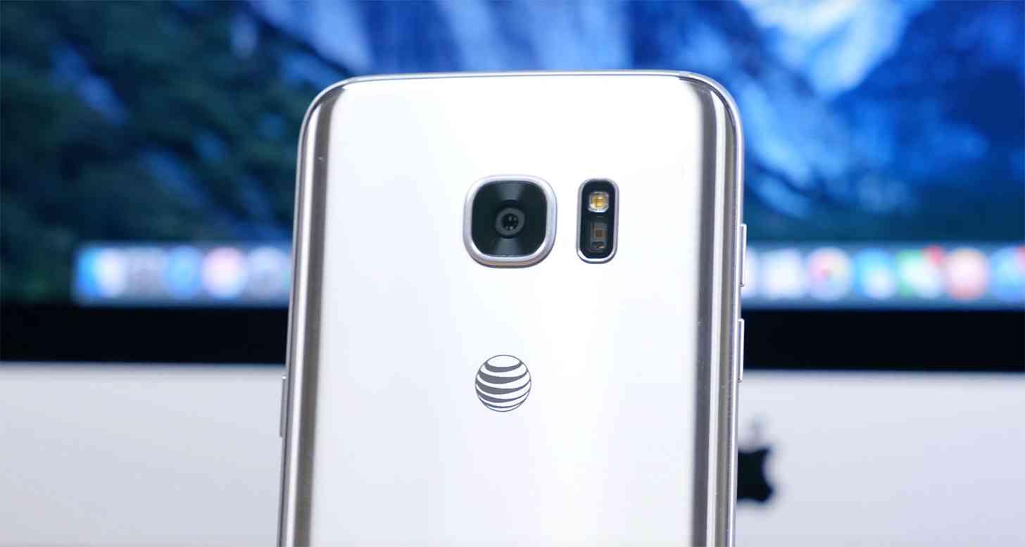 AT&T logo Galaxy S7