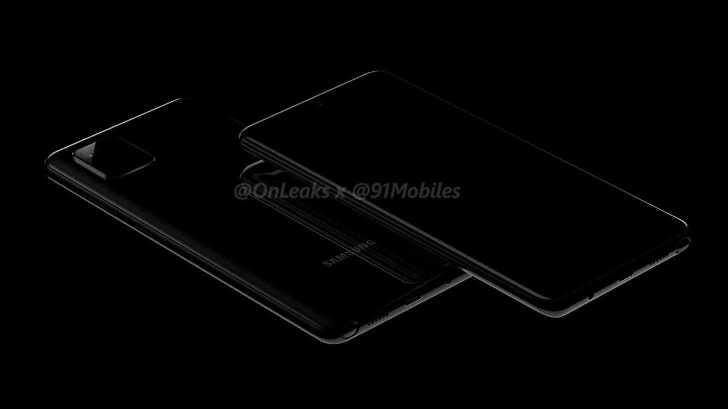 Galaxy Note 10 Lite CAD renders